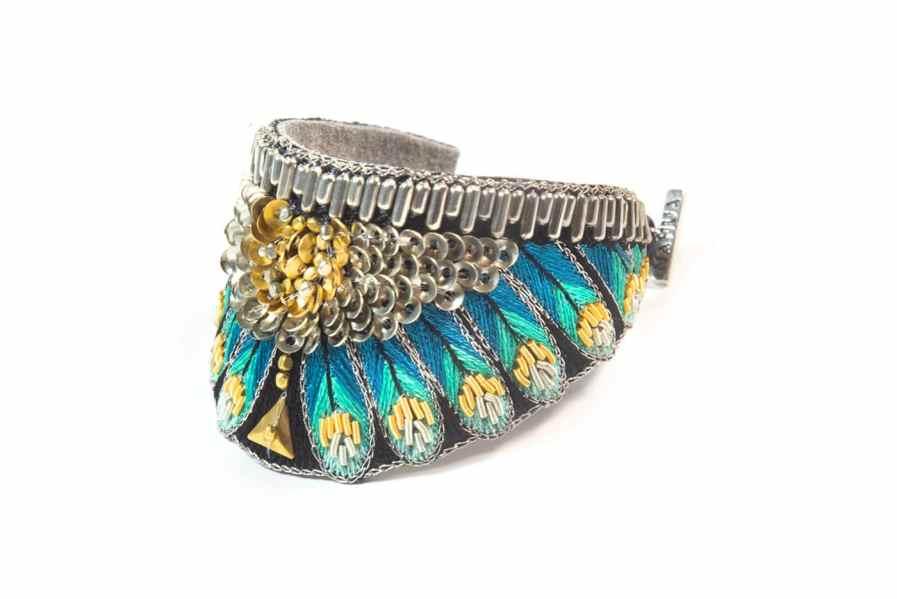 Bracelet ethnique Nita | Green | Photo 2