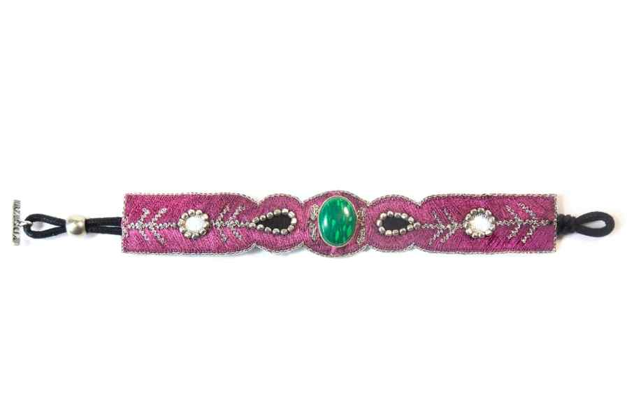 Bracelet chic Opaline | Green/Purple | Photo 3