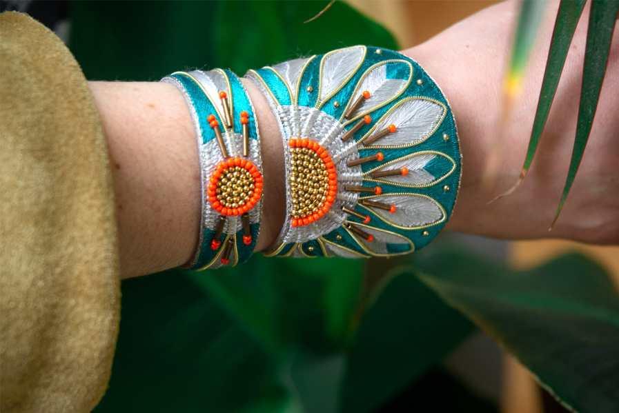 Bracelet ethnique Aprile | Green/Argile | Photo 1