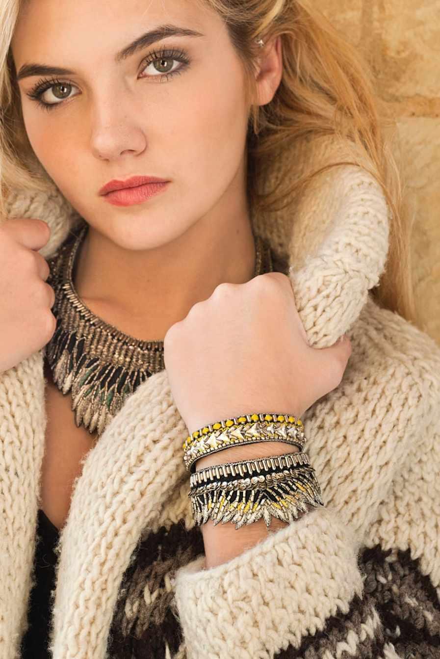 Bracelet ethnique Fabia | Powder | Photo 4