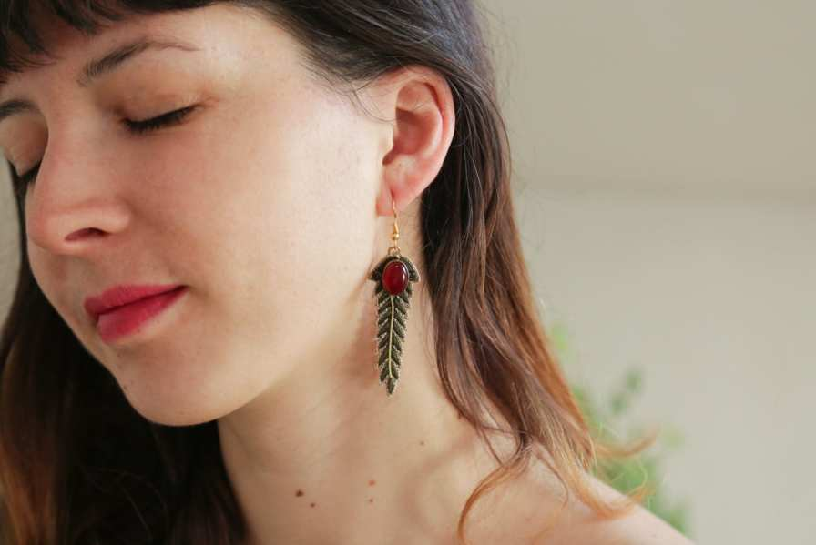 Boucles d'oreilles chic Lorie | Military | Photo 1