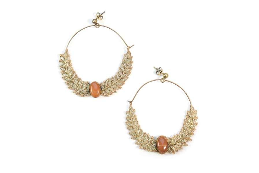 Boucles d'oreilles créoles Lorna | Gold | Photo 1