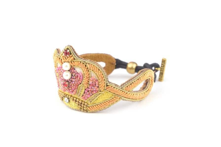 Bracelet couronne Romane | Red | Photo 2