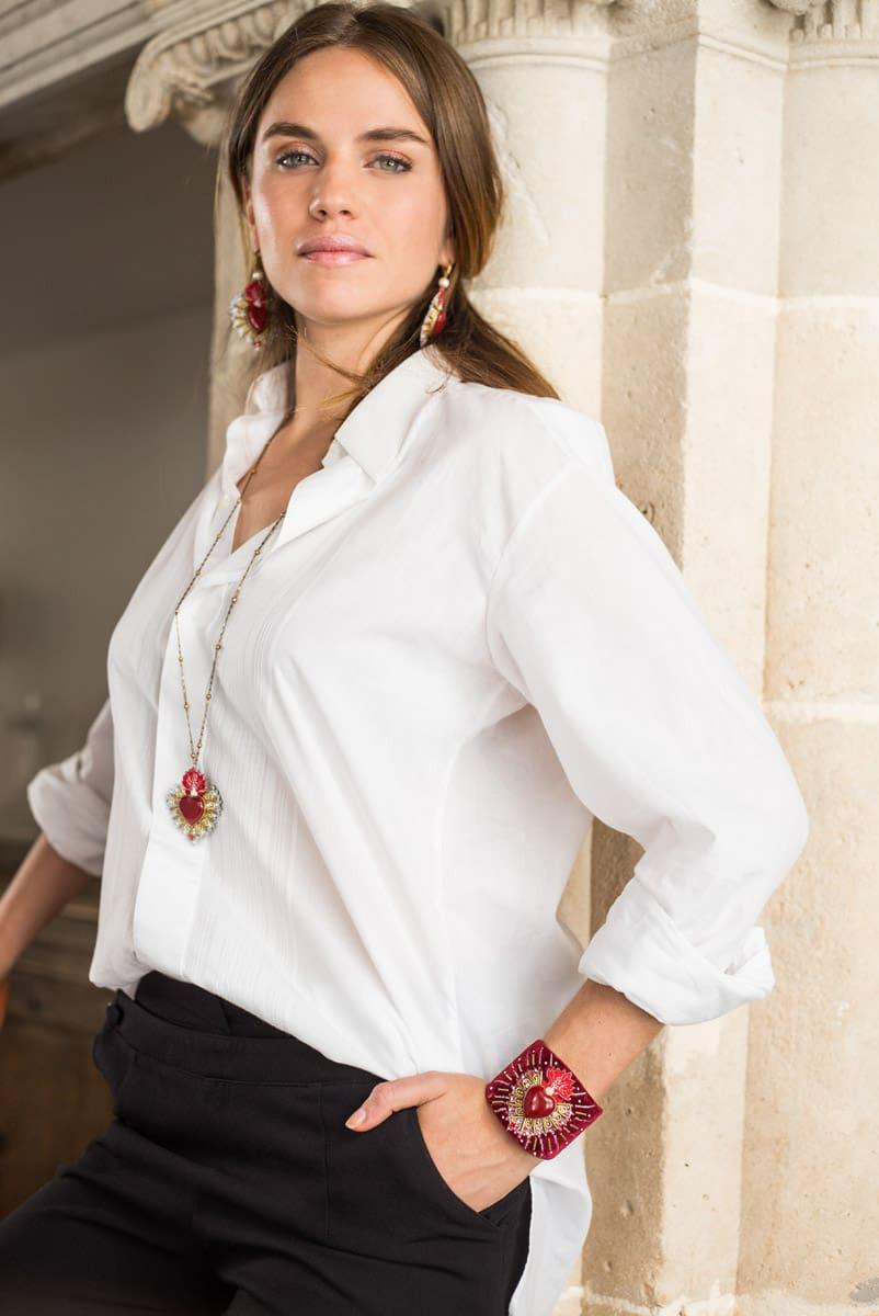 Collier sacré coeur Rosana | Rouge | Photo 4