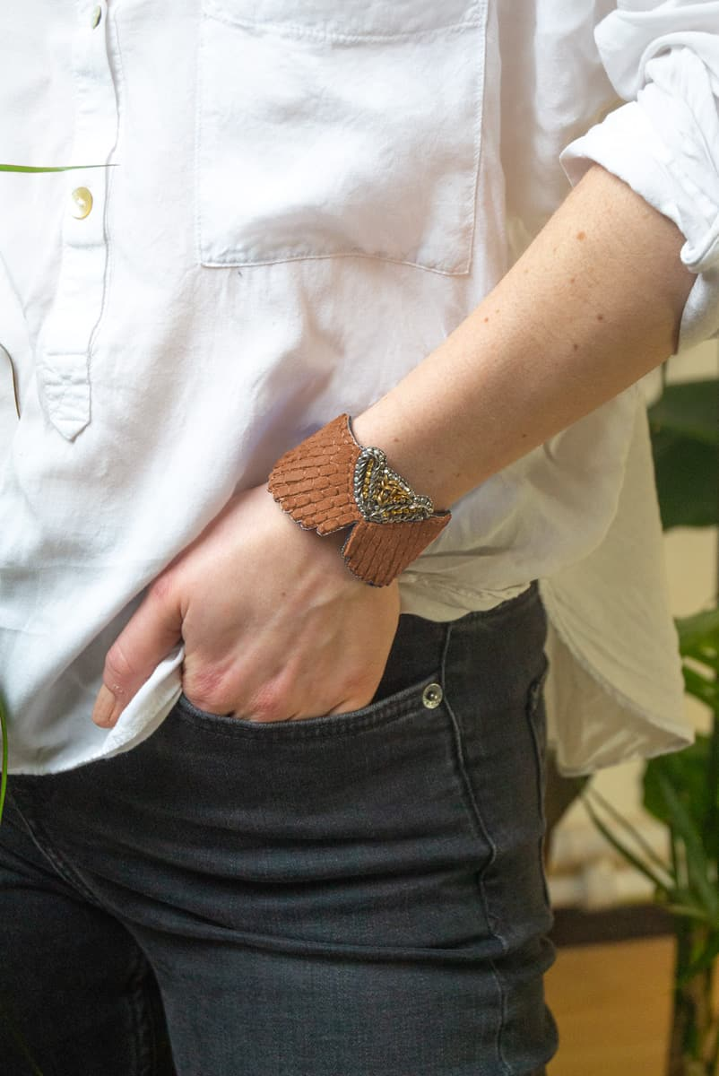 Bracelet cuir Angy | Nuts | Photo 1