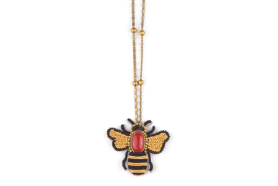 Collier abeille Roy | Rouge | Photo 3