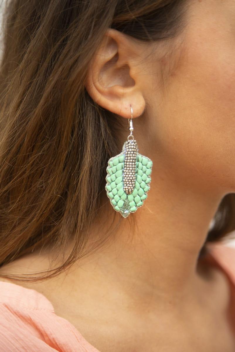 Boucles d'oreilles Colette | Turquoise | Photo 1