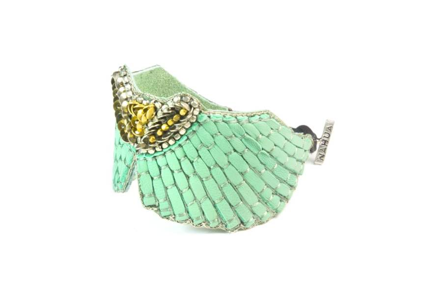 Bracelet cuir Angy | Turquoise | Photo 2