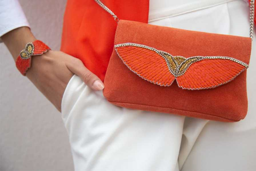 Bracelet cuir Ange | Mandarin | Photo 1