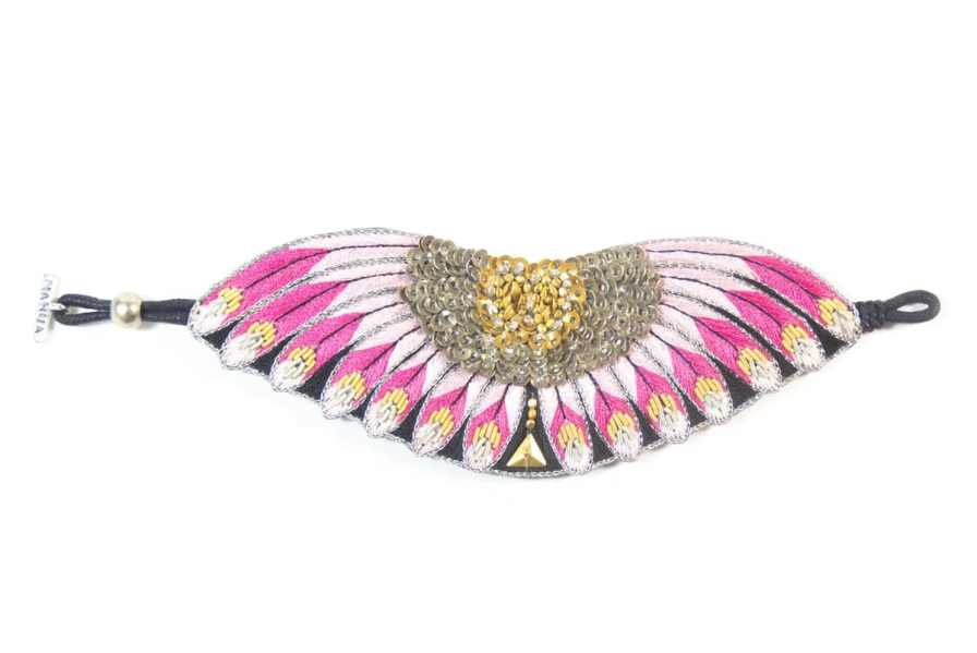 Bracelet ethnique Nikita | Pink | Photo 1
