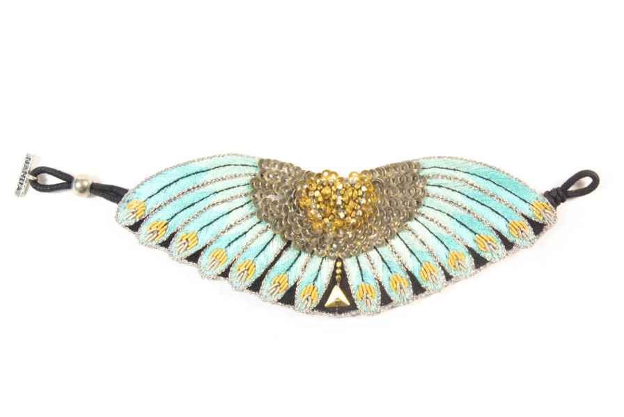 Nikita ethnic bracelet | Turquoise | Photo 1