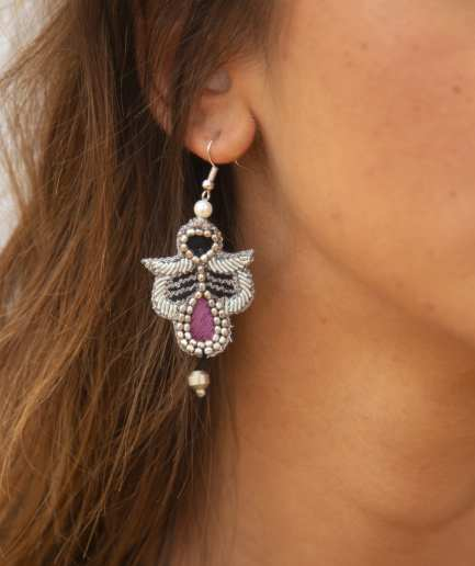 Boucles d'oreilles Opale Purple NAHUA