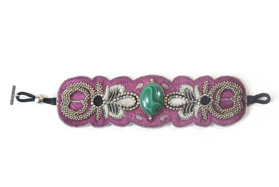 Bracelet chic Opera | Green/Purple | Photo 3