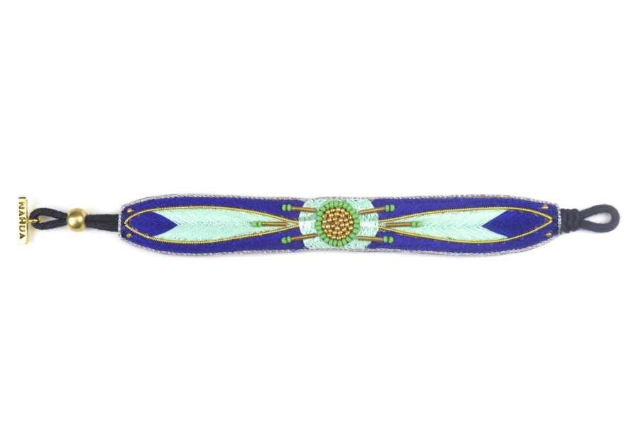 Bracelet ethnique Aprile | Klein/Mint | Photo 3