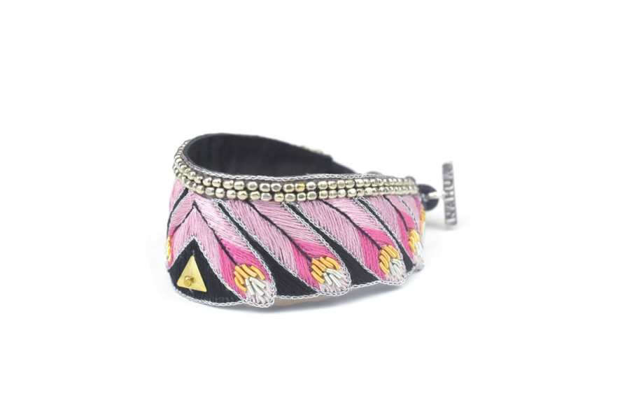 Bracelet ethnique Niall | Pink | Photo 2
