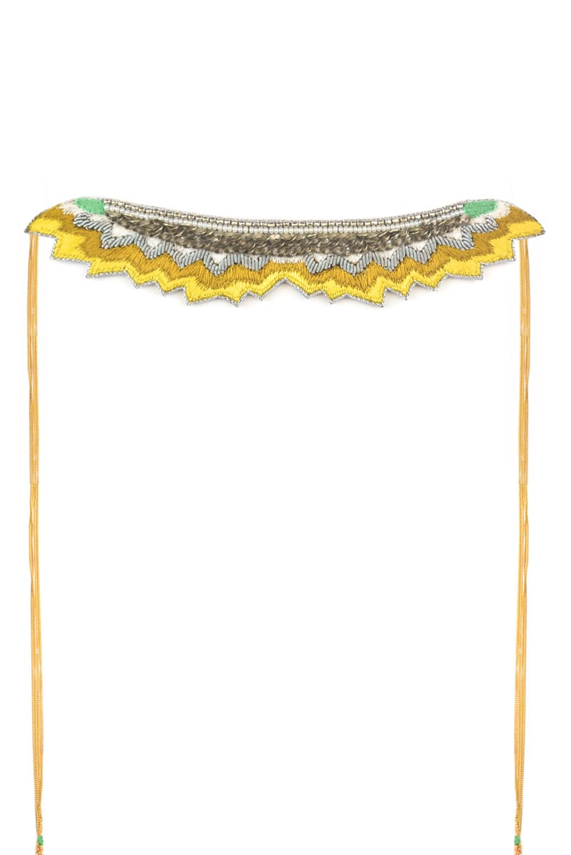 Mahi embroidered necklace   Mustard   Photo 2