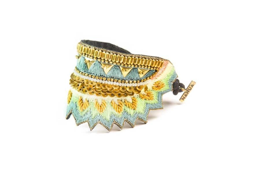 Bracelet ethnique Maheswari | Aqua | Photo 2