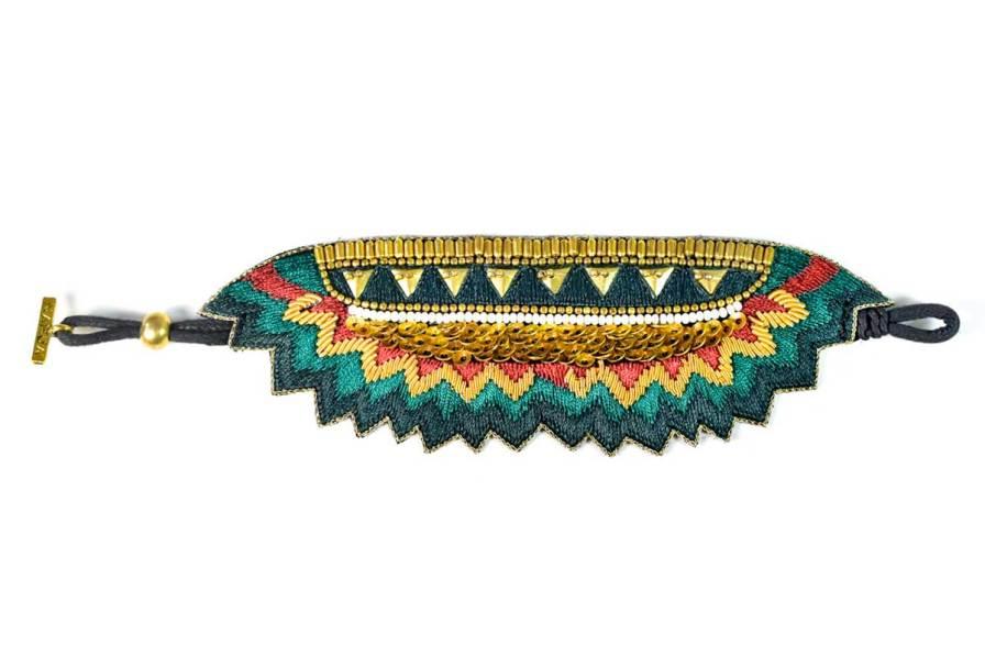 Bracelet ethnique Maheswari | Forest | Photo 3