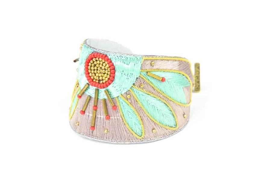 Bracelet ethnique Apauline   Jade/Straw   Photo 2