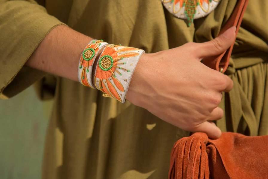 Bracelet ethnique Aprile | Apricot/Cream | Photo 1