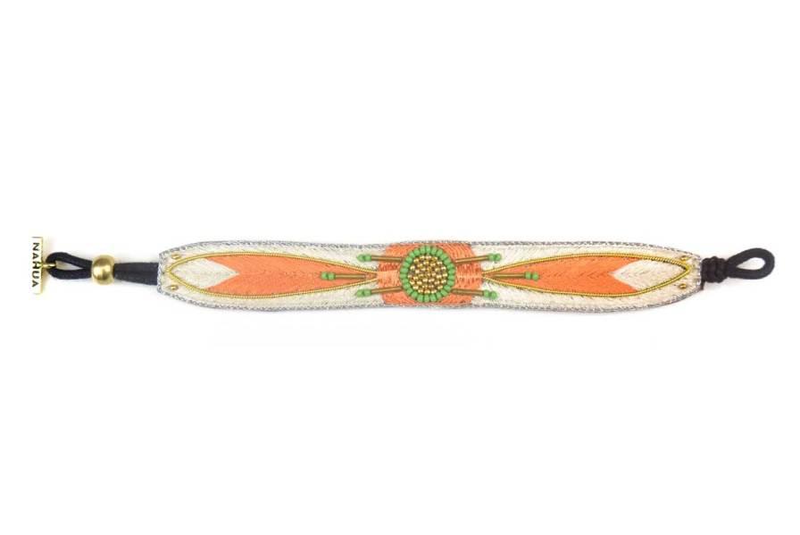 Bracelet ethnique Aprile | Apricot/Cream | Photo 3