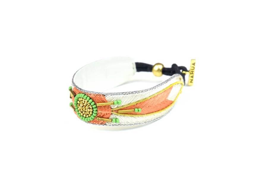 Bracelet ethnique Aprile | Apricot/Cream | Photo 2