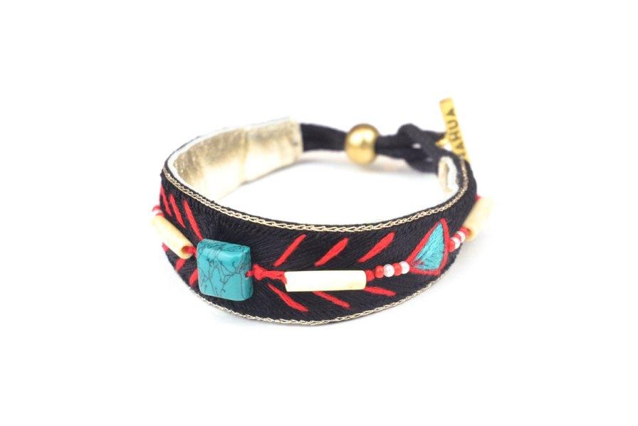 Bracelet ethnique Trinidad | Black | Photo 2