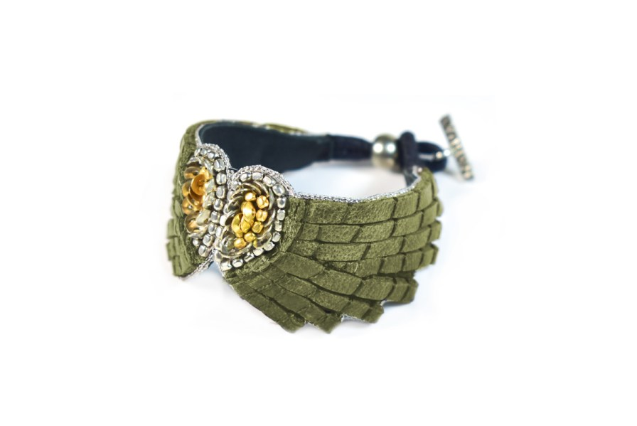 Bracelet cuir Ange | Military | Photo 1