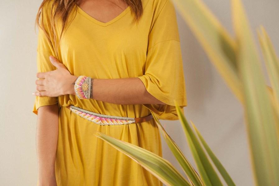 Bracelet ethnique Nita | Lilac | Photo 1