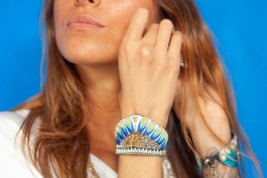 Bracelet ethnique Nita   Blue greek   Photo 1