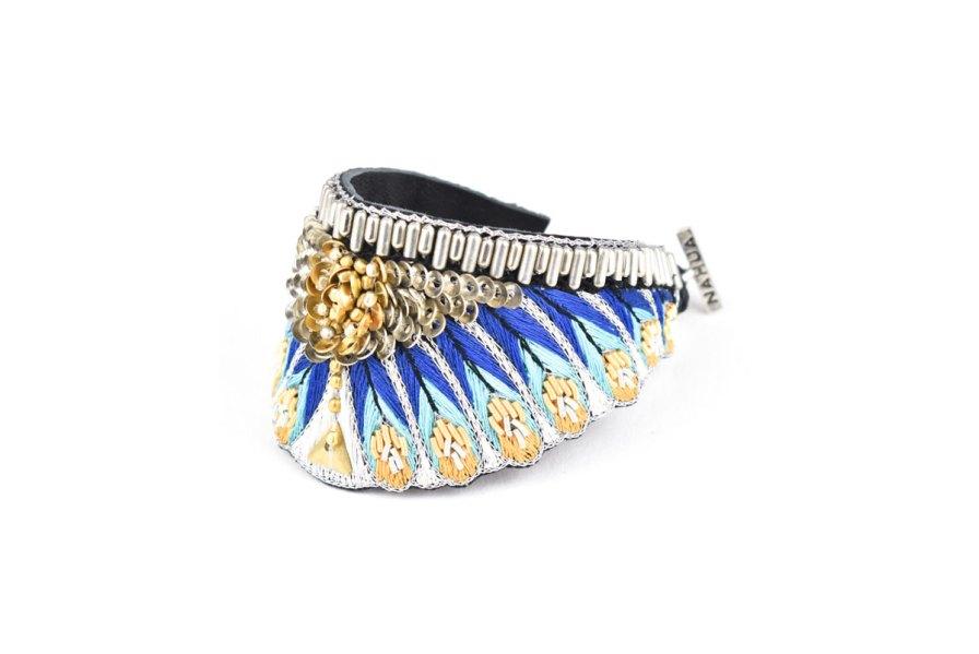 Bracelet ethnique Nita   Blue greek   Photo 2