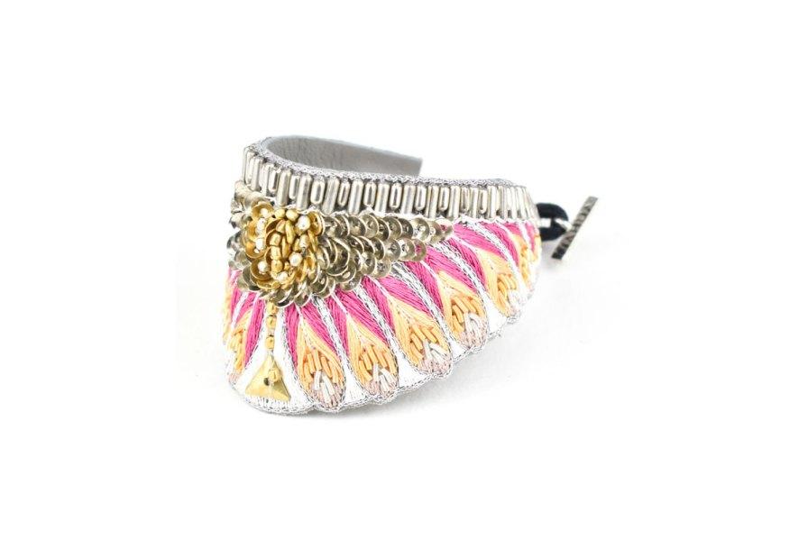 Bracelet ethnique Nita | Lilac | Photo 2