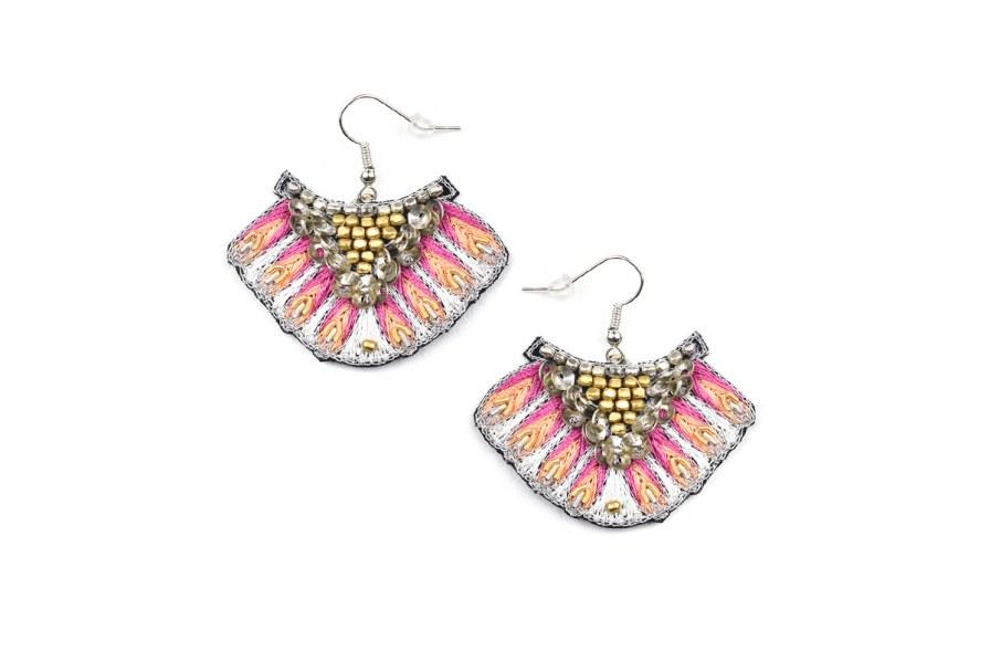 Boucles d'oreilles ethnique Nidhi | Lilac | Photo 2