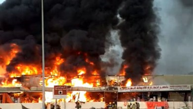 Photo of Fire Outbreak In Popular Ajman Market Dubai, UAE. (Photos)