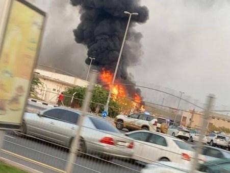 Fire outbreak in Ajman market Dubai