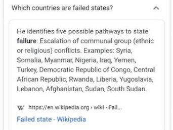 Wikipedia's List Of Failed States