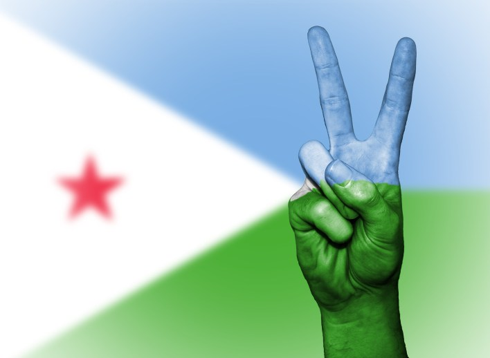 A Peace Hand Signaling Unity in Djibouti. Djibouti is home to thousands of foreigners, Ethiopians, and lately merchants from Yemen
