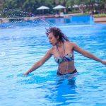 Tboss Bikini Pool Photoshoot In Tanzania