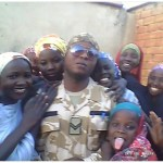 Soldier In Ngala, Borno Surrounded By Ladies For Selfie (Photos)