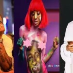 Lady strips unclad, covers her body with Davido's painting (Photo)