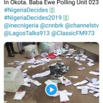 Thugs destroyed Ballot boxes in Baba Ewe Polling unit, Okota, Lagos