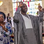 Oyo State Governor Elect Seyi Makinde And His Wife At Thanks Giving Service