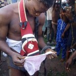 Man Steals Lady's Pant In Ogun. Stripped After Being Caught (Photo)