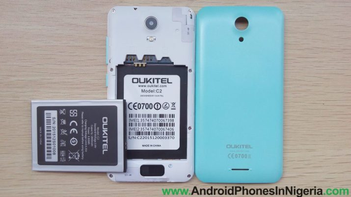 Oukitel c2 back cover and battery review