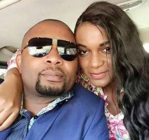 Queen Nwokoye and Husband.