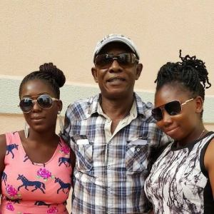 Nkem Owoh and daughters.