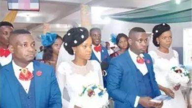 Photo of Twin Brothers Marry Twin Sister In Lagos, Use Twin Groomsmen (Photos)