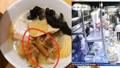 Photo of Chinese Chef Captured By CCTV Camera Spitting Inside The Food Meant For Customers (Video)