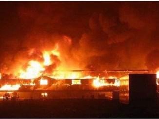 Properties razed as fire guts Ajao market