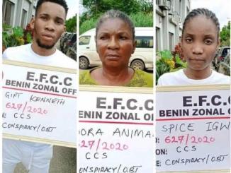 EFCC arrests man, his mother, girlfriend for suspected internet fraud